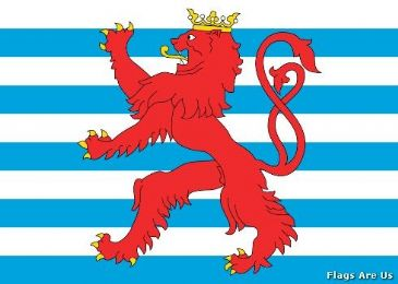 Luxembourg Civil Ensign  (Luxembourg) (1993 - )